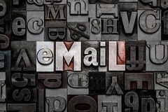 Letterzetsel e-mail Royalty-vrije Stock Foto's
