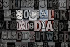 Letterzetsel Sociale Media Royalty-vrije Stock Foto