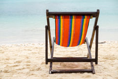letti della spiaggia Immagine Stock Libera da Diritti