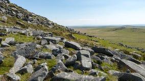 Lettiera Dartmoor di molte rocce Fotografia Stock Libera da Diritti
