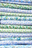 Lettiera del cotone di colore della pila Immagine Stock