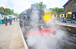 Letting off steam at Grosmont Stock Photo