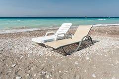 Lettini sulla spiaggia Immagine Stock Libera da Diritti