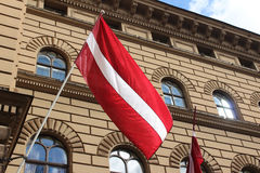 Lettische Flagge Stockfotos