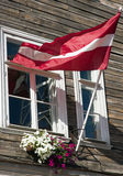 Lettische Markierungsfahne Lizenzfreie Stockfotos