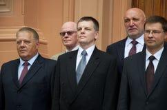 Lettische Premierminister Stockbilder