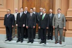 Lettische Premierminister Stockbild