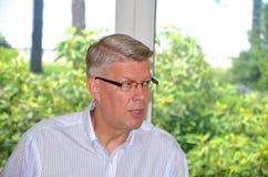 Lettischer Präsident Valdis Zatlers an seinem Abschied m Lizenzfreies Stockbild
