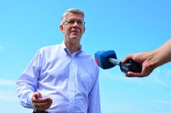 Lettischer Präsident Valdis Zatlers an seinem Abschied m stockfotos