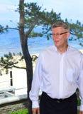 Lettischer Präsident Valdis Zatlers an seinem Abschied m Lizenzfreie Stockfotos