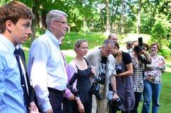 Lettischer Präsident Valdis Zatlers an seinem Abschied m Stockbilder