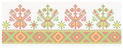 Lettisches baltisches ethnographisches Muster Lizenzfreies Stockbild