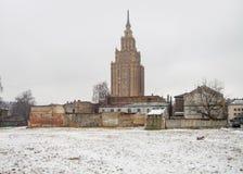 Lettisk akademi av vetenskaper royaltyfri bild