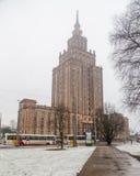 Lettisk akademi av vetenskaper fotografering för bildbyråer