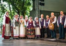 Lettisk nationell sång- och dansfestival Royaltyfria Bilder