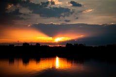 Lettisk solnedgång Royaltyfria Bilder