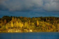 Lettiskt landskap Arkivbilder