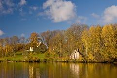 Lettiskt landskap Fotografering för Bildbyråer