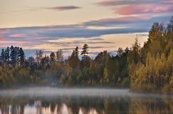 Lettiskt landskap Arkivbild