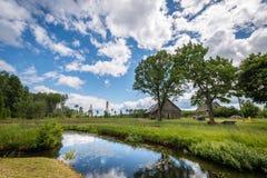 Lettiskt lantligt landskap Royaltyfri Fotografi