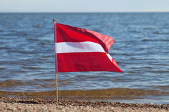 Lettland flagga. Royaltyfria Foton