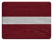 Lettland flagga Royaltyfri Foto