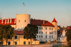 lettland Naher runder Turm von Riga-Schloss Berühmter mittelalterlicher Markstein Lizenzfreie Stockbilder