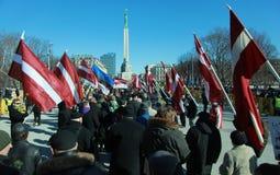 I minnes- lettisk legion Arkivbild