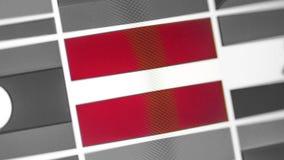 Lettland-Staatsflagge des Landes Lettland-Flagge auf der Anzeige, ein digitaler Wässerungseffekt lizenzfreies stockbild
