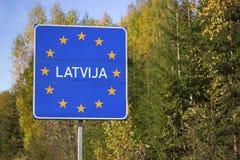 Lettland-Zeichen Lizenzfreies Stockbild