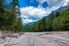Letto asciutto della montagna Fotografia Stock