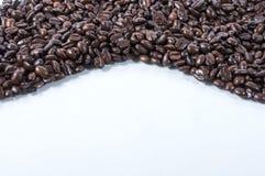 Letto dei chicchi di caffè Fotografia Stock