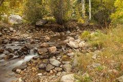 Letto di fiume americano del canyon della forcella Fotografie Stock