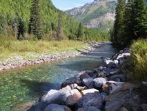 Letto di fiume glaciale Fotografia Stock
