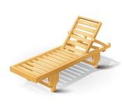 Letto di legno della spiaggia Immagini Stock Libere da Diritti
