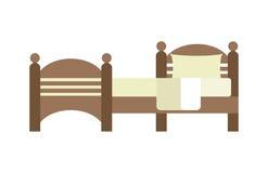Letto esclusivo di modo della camera da letto di progettazione della mobilia di sonno e decorazione domestica comoda dell'apparta Immagini Stock