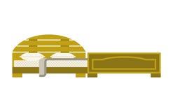 Letto esclusivo di modo della camera da letto di progettazione della mobilia di sonno e decorazione domestica comoda dell'apparta Fotografia Stock