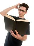 Lettore confuso Fotografia Stock