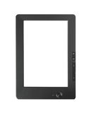lettore del E-libro con uno schermo in bianco isolato Immagine Stock
