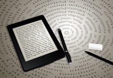 Lettore del libro elettronico Fotografia Stock