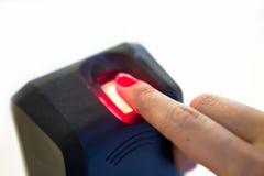 Lettore di impronta digitale biometrico Fotografia Stock Libera da Diritti