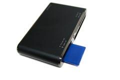 Lettore di schede con la scheda di deviazione standard Fotografie Stock Libere da Diritti