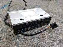 Lettore di schede interno per il computer immagine stock
