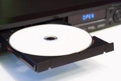 Lettore DVD con un cassetto aperto Immagine Stock
