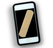 Lettore MP3 rotto Smartphone Fotografie Stock Libere da Diritti