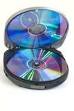Lettore multimediale con il disco compatto Fotografia Stock Libera da Diritti