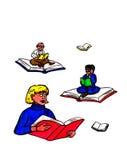 Lettori del libro - libri di volo (2007) Fotografia Stock Libera da Diritti