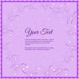 Lettrage élégant de vecteur dans le style abstrait avec l'endroit pour le texte Perfectionnez pour des invitations, cartes de voe Image libre de droits