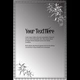 Lettrage élégant de vecteur dans le style abstrait avec l'endroit pour le texte Perfectionnez pour des invitations, cartes de voe Image stock