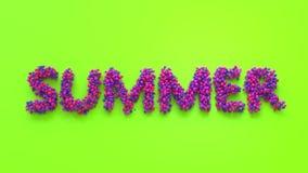 Lettrage d'été dans des couleurs de vitamine Photos stock